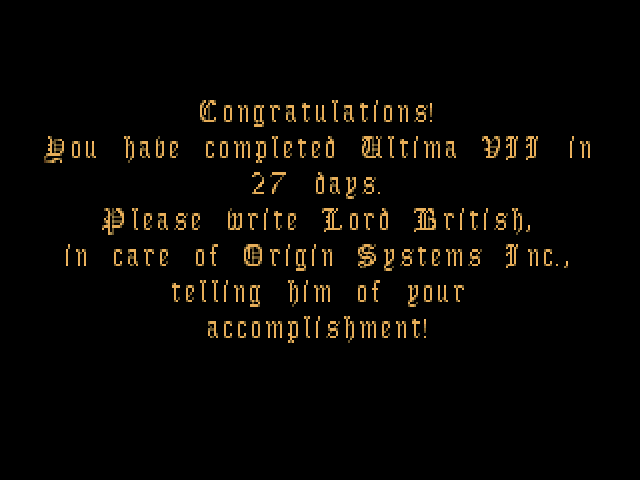 23/06/12 - Ultima VII Part Two: Serpent Isle (PC)
